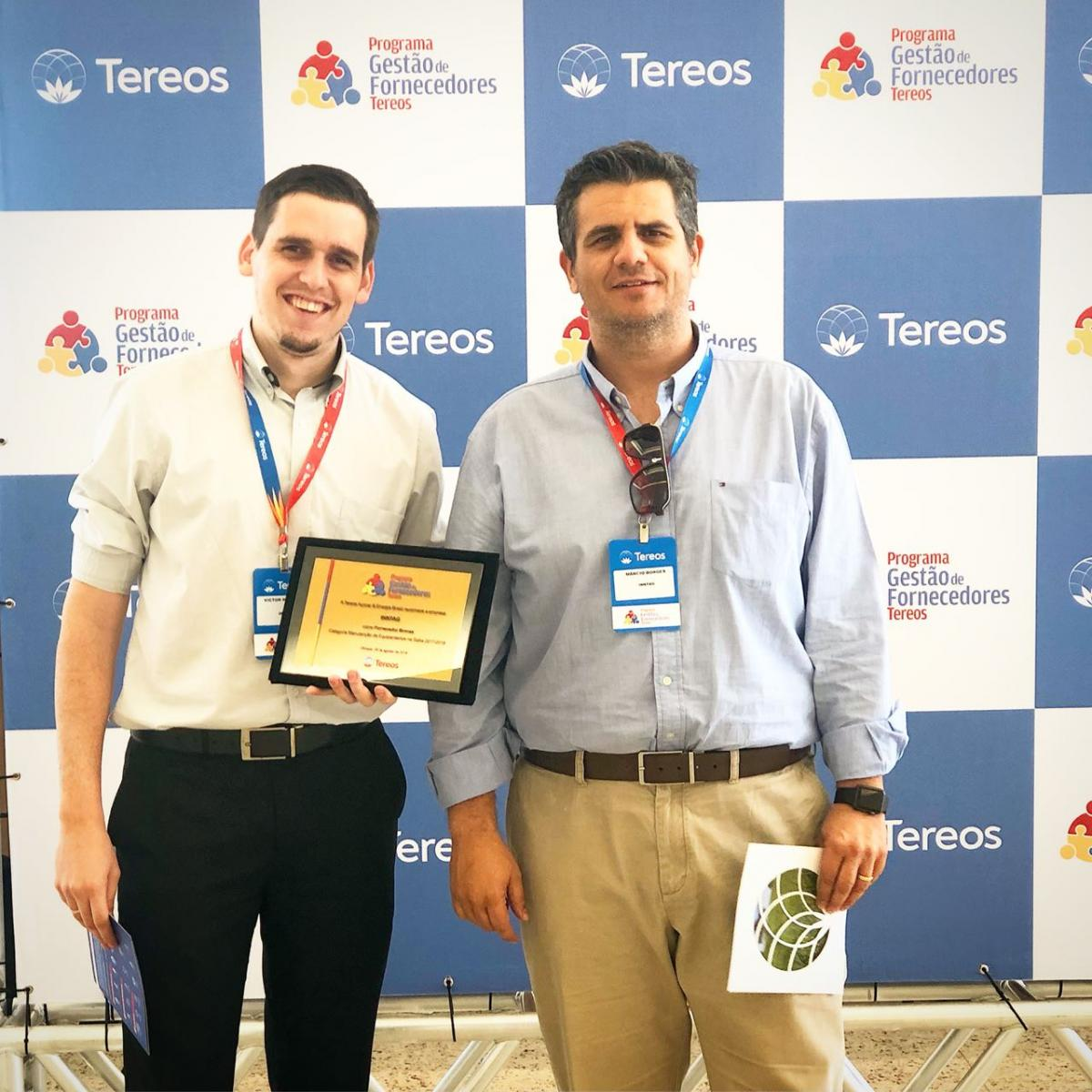 Inntag recebe prêmio do programa de gestão de fornecedores do grupo Tereos